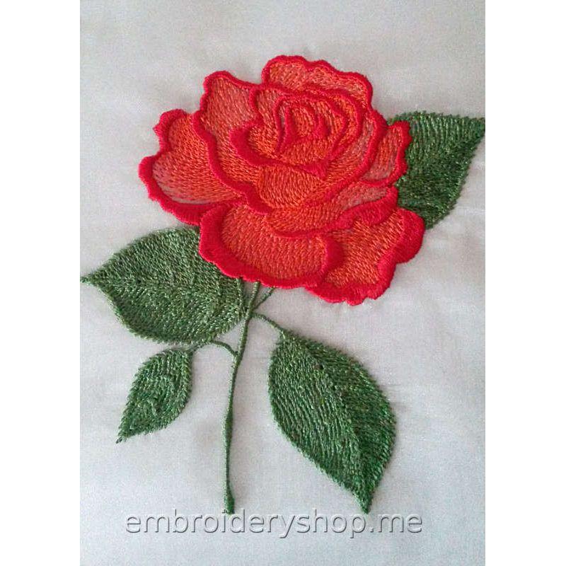 Розы вышивка машинная 53
