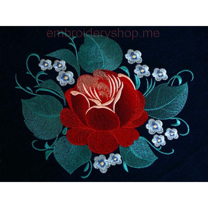 Розы вышивка машинная 67