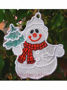 Дизайн вышивки Снеговик fsl0002