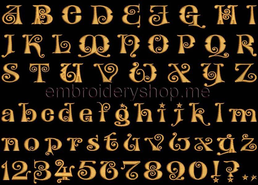 Шрифт английскийf001030 мм