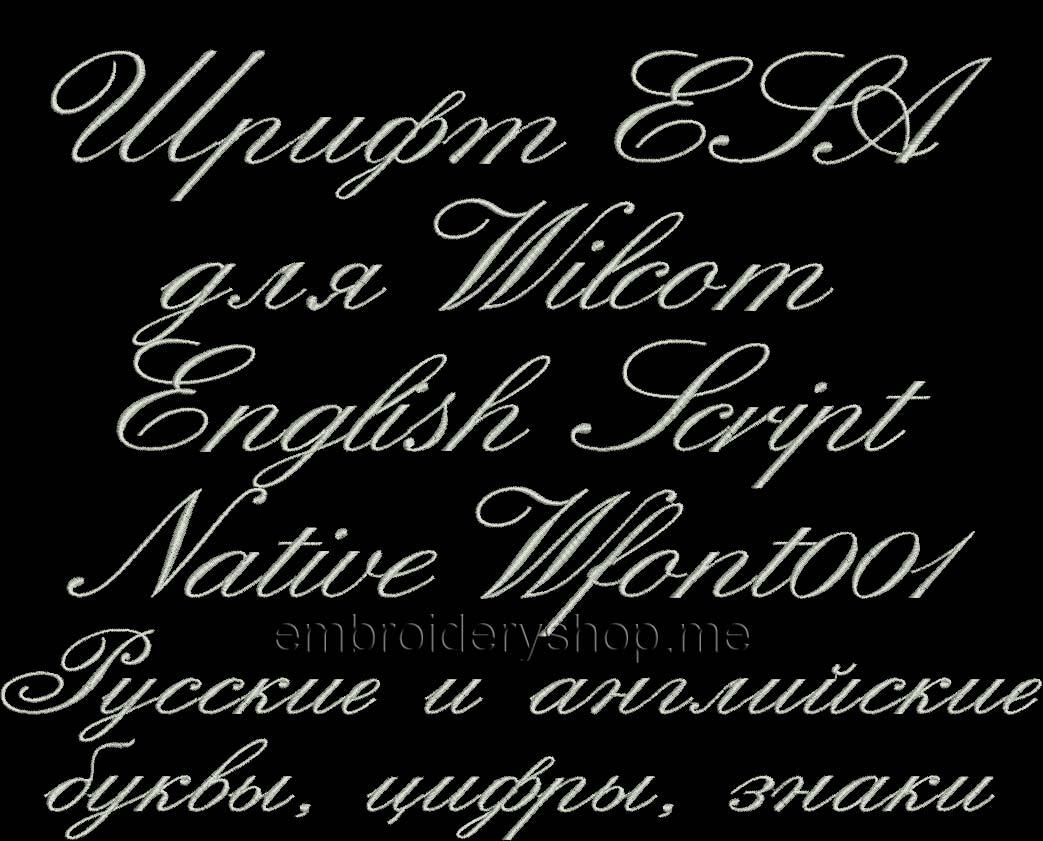 Шрифт ESA Wfont001