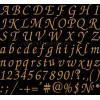 Шрифт ESA Wfont007