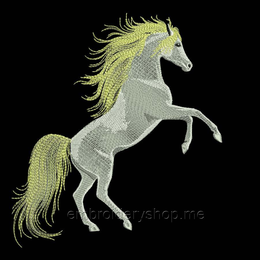 Белая лошадь hrs0007