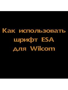 Как использовать шрифт ESA для Wilcom - видеоурок