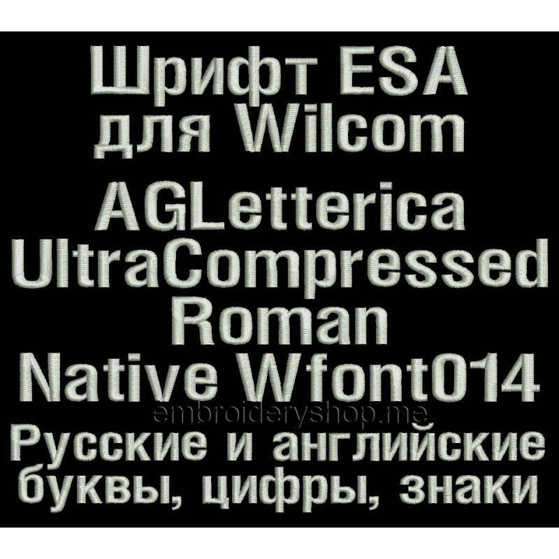 Шрифт ESA Wfont014