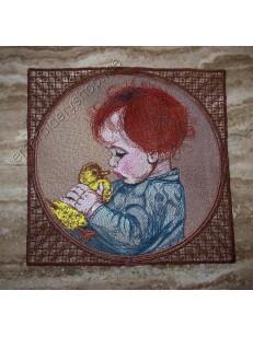 """Коврик для мыши """"Мальчик с уточкой"""" ppl0019"""