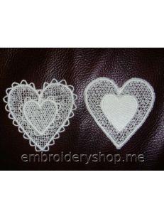 Кружевные сердечки fsl0042