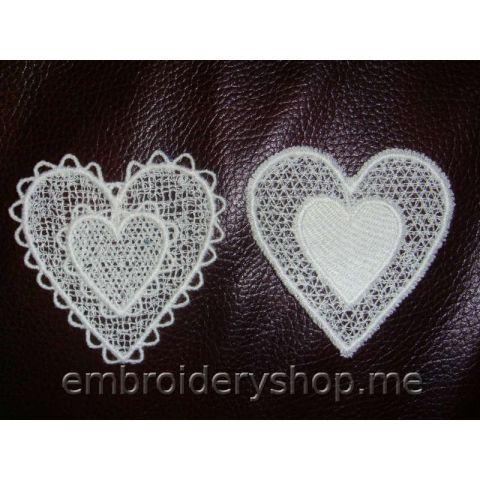 Кружевные сердечки fsl0042 (2 дизайна)