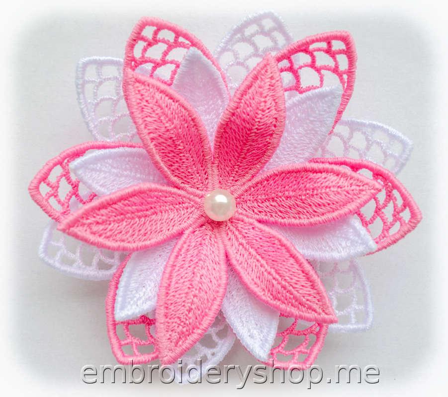 Объемный кружевной цветок fsl0044