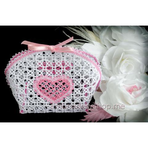 Кружевная корзиночка для украшений fsl0045