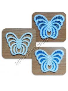 Кружевные бабочки (3 дизайна) fsl0047