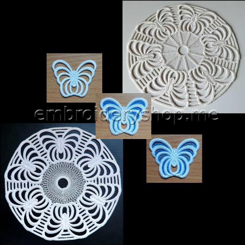 Комплект кружевных дизайнов «Бабочки» (5 дизайнов) fsl0049