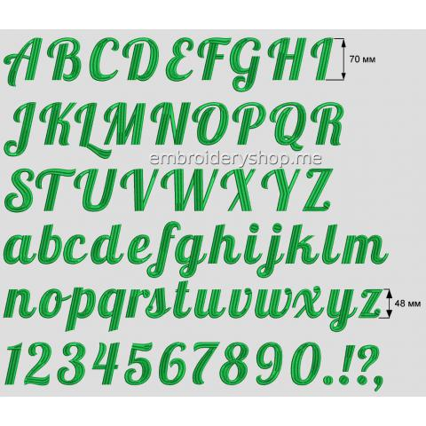 Шрифт английский 70 мм f0025