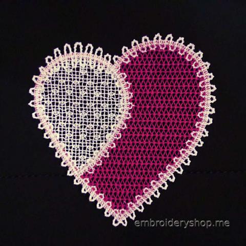 Кружевное сердце fsl0054