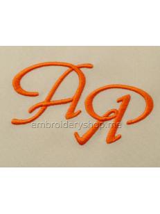 Шрифт для вышивки монограмм 40 мм f0026_capital