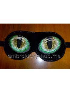 """Дизайн вышивки """"Очки ночного видения"""" art0024, маска для сна"""