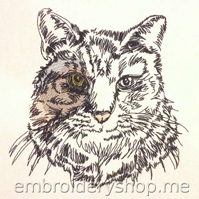 Дизайн вышивки Кот cat0017