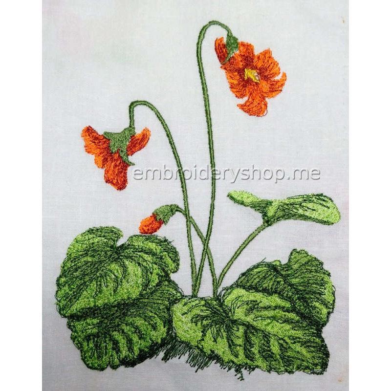 Дизайн вышивки Цветок flw0126