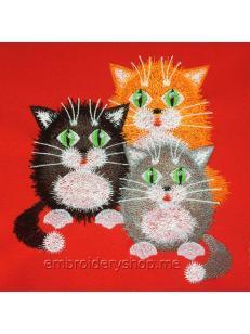 Дизайн машинной вышивки Котята cat0018