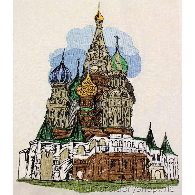 Дизайн вышивки Храм Василия Блаженного smb0023