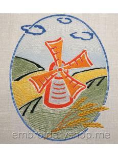 Дизайн машинной вышивки Красная мельница art0025