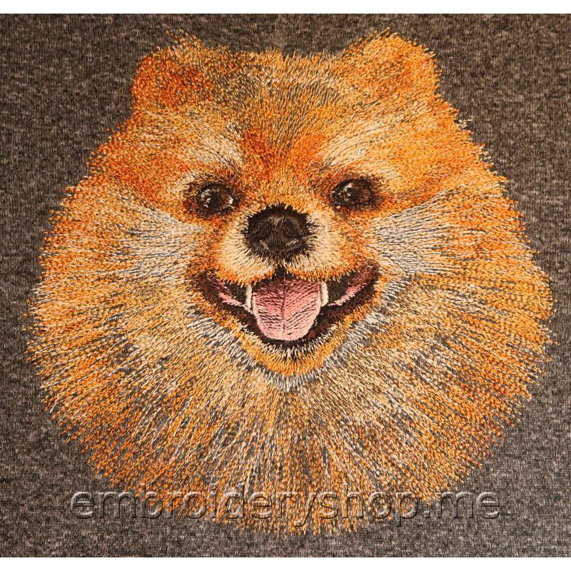 Дизайн вышивки Шпиц dog0021