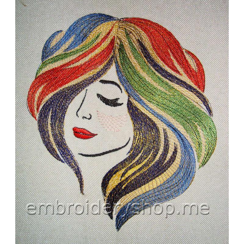 Дизайн вышивки Дева ppl0030
