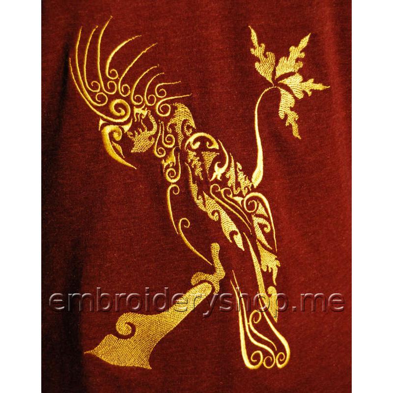 Золотой попугай на закате brd0051