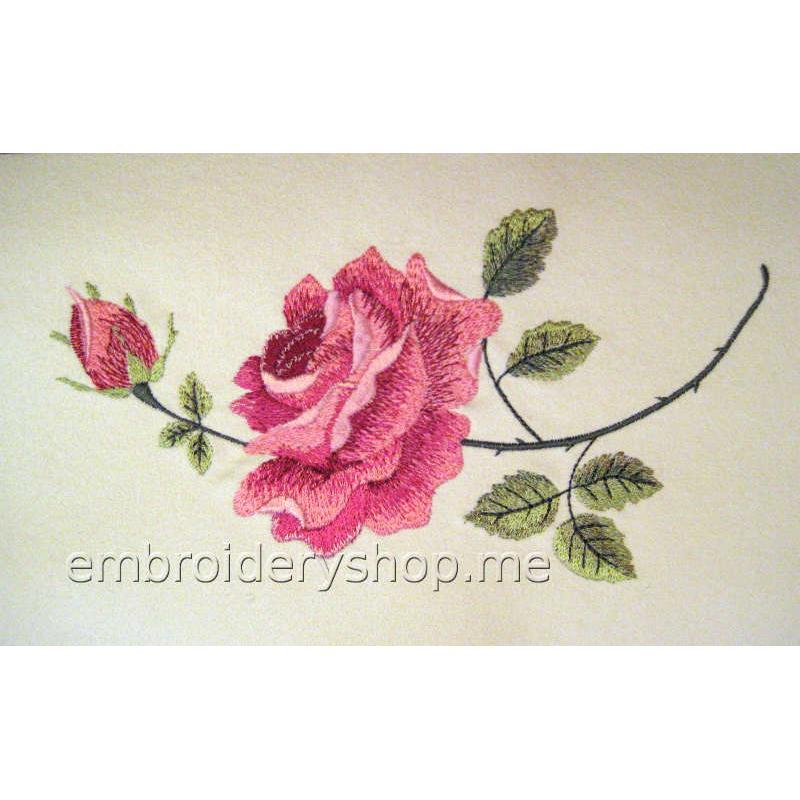 Дизайн вышивки Роза flw0130