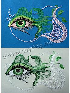 Дизайн вышивки Взгляд души art0026