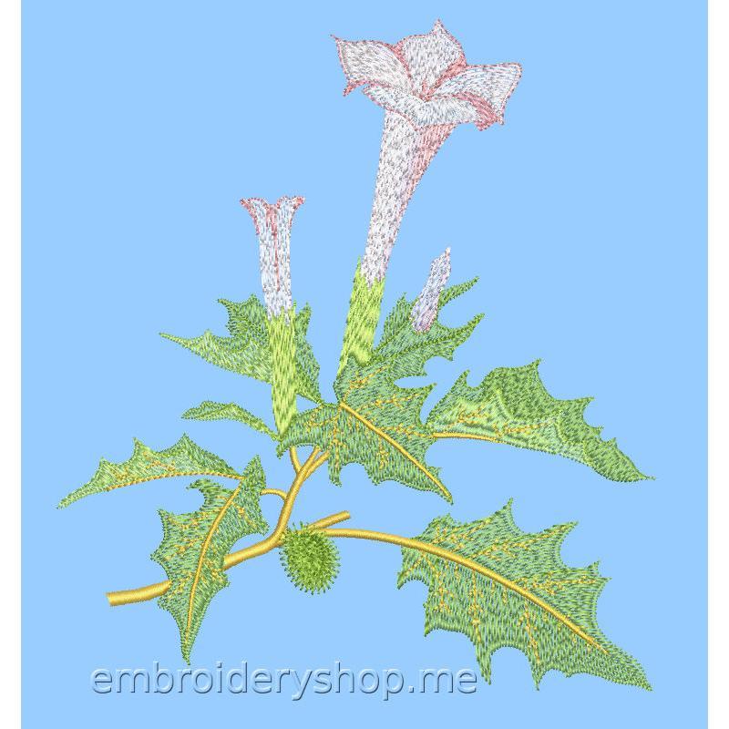 Дизайн машинной вышивки Цветок flw0134