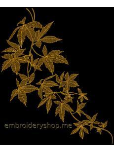 Дизайн машинной вышивки Золотая ночь Lvs0007