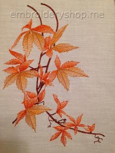 Дизайн вышивки Веточка с листьями Lvs0008
