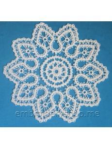 Дизайн машинной вышивки Кружевной цветок fsl0059