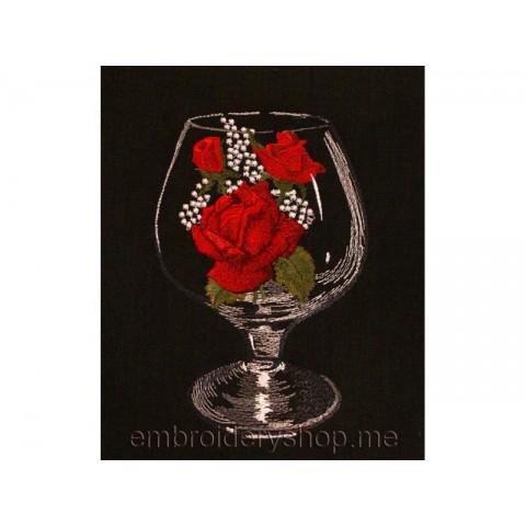 Бокал с розами art0002