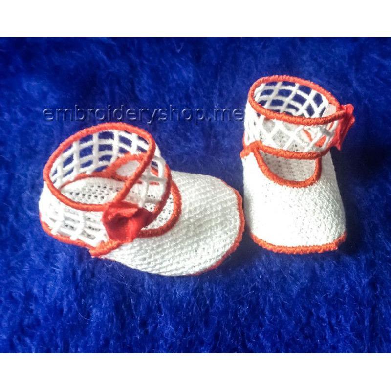 Дизайн вышивки кружевные туфельки для куклы fsl0064