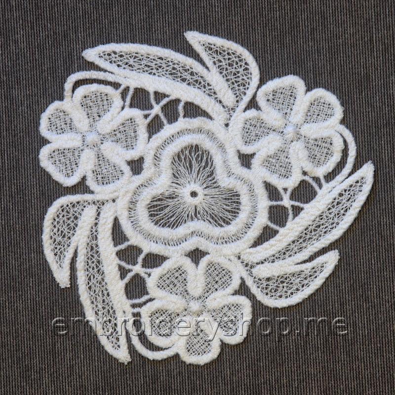 Дизайн машинной вышивки Кружевное украшение fsl0043