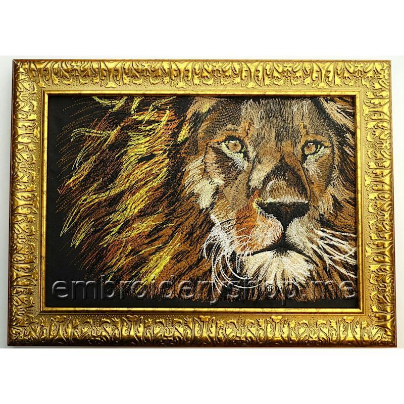Дизайн машинной вышивки Солнечный лев lio0007