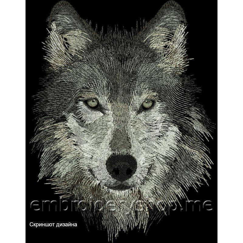 Дизайн машинной вышивки Волк wlf0007