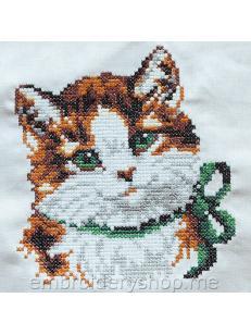Дизайн машинной вышивки Киса crs0011