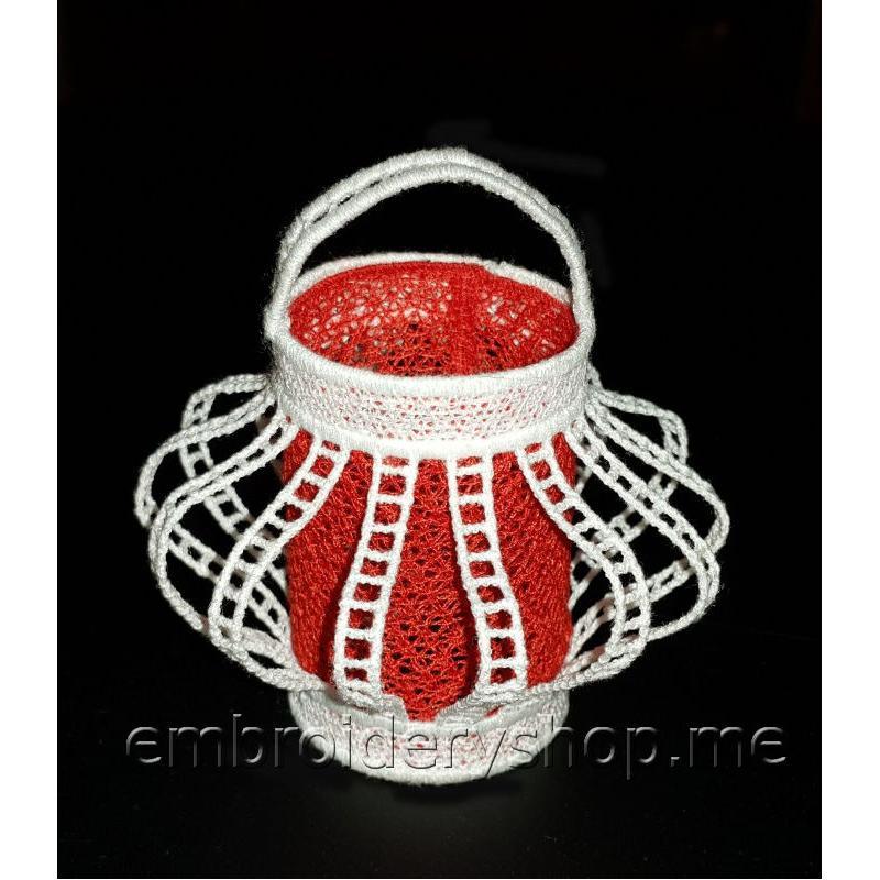 Дизайн машинной вышивки Кружевной фонарик fsl0067