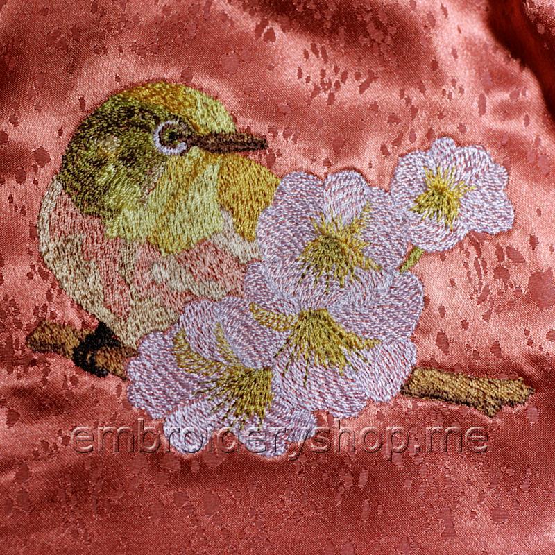 Дизайн машинной вышивки Птица brd0058