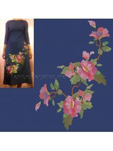 Дизайн машинной вышивки Цветочная композиция flw0138_180x300