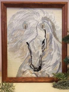"""Дизайн машинной вышивки """"Небесная лошадь"""" hrs0008"""
