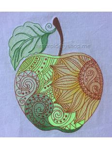 Дизайн машинной вышивки Яблоко жизни art0028_180x219
