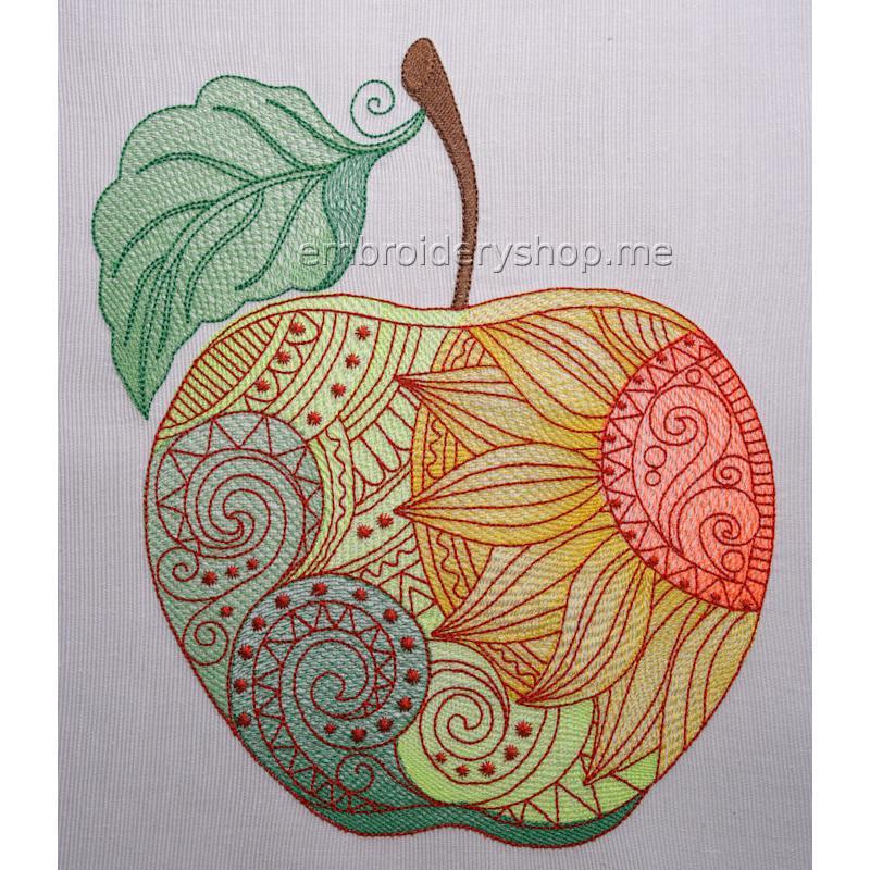 Дизайн машинной вышивки Яблоко жизни art0028_200x244