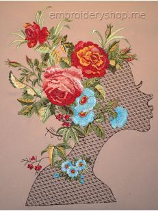 Дизайн машинной вышивки Цветочная фея ppl0034_200x255
