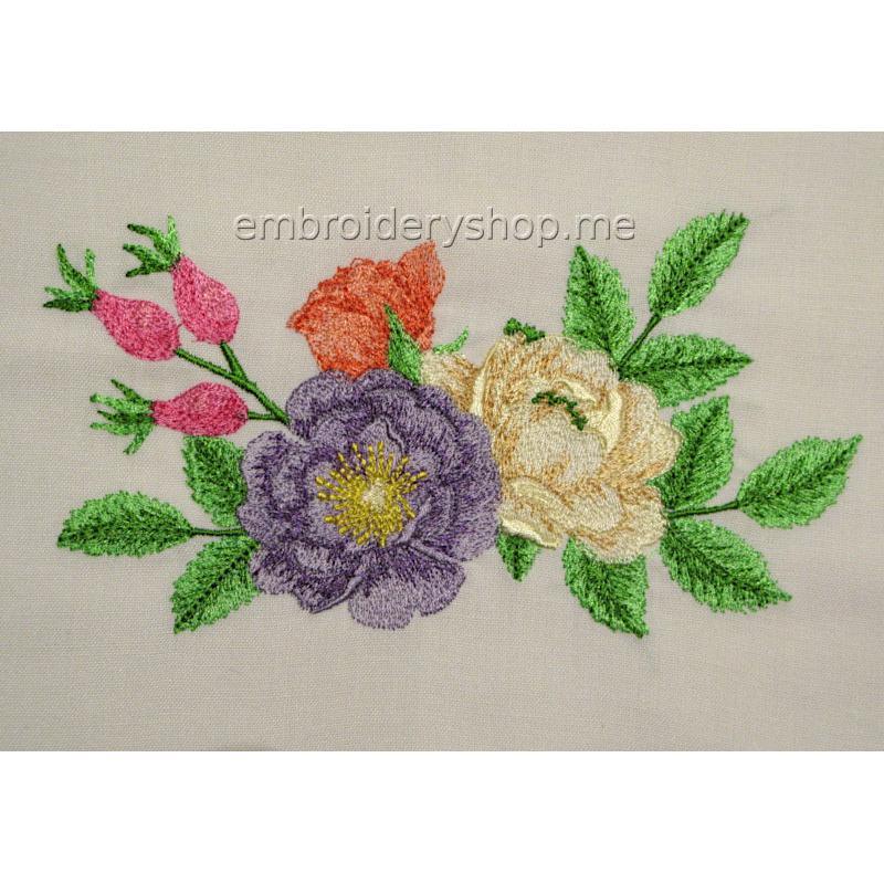 """Цветочный дизайн машинной вышивки """"Нескучный сад"""" flw0142"""