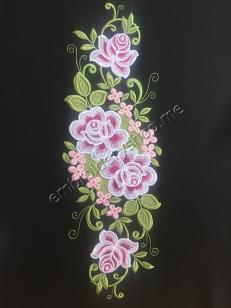 Дизайн машинной вышивки Розы flw0127