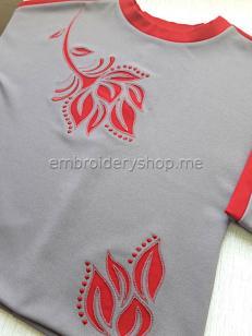 Дизайны машинной вышивки Огненный цветок flw0145